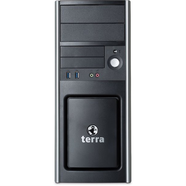 Core i3-8100 (3.6 GHz); ATX-Midi-Tower PC607_V2 ;  8 GB DDR4-RAM; 240 GB SSD; DVD-Brenner; GbE-LAN; ;  Intel UHD Grafik 630 (1x DVI-D; 1x HDMI; 1x VGA) ;  Unterst?tzt max. 2x Displays ;  Tastatur; Wheel Maus optical ;  Windows 10 Pro; Microsoft Office trial