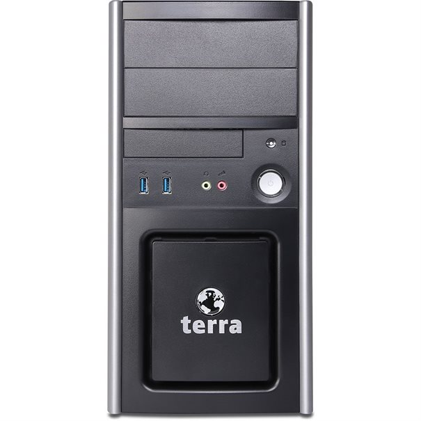 TERRA ?ATX-Mini-Tower PC311_V2 ;  AMD Ryzen 3 2200G (3.5 GHz; 4C/ 4T) ;  8 GB DDR4; 500 GB SSD; ;  DVD?RW Brenner; GbE-LAN; ;  AMD Radeon Vega 8 Grafik integriert ;  HDMI; DVI-D; VGA (Unterst?tzt max. 2x Displays) ;  Windows 10 Pro; Tastatur & Maus; ;  Microsoft Office trial