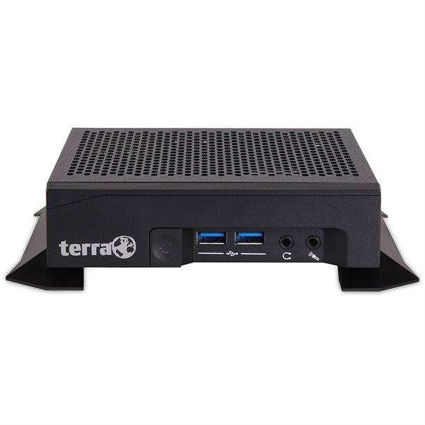 TERRA Greenline-Serie ;  Mini-STX (0,9 L Volumen)  L?fterlos ;  Intel Pentium J5005/ Quad-Core bis zu 2.8 GHz ;  4 GB SO-DIMM DDR4 ;  250 GB Samsung M.2-SSD SATA3 ;  WLAN; Bluetooth; 2x GbE-LAN ;  Intel UHD-605 Grafik (2x DP) ;  Windows 10 Pro; MS Office trial ;  (!) Tastatur + Maus optional