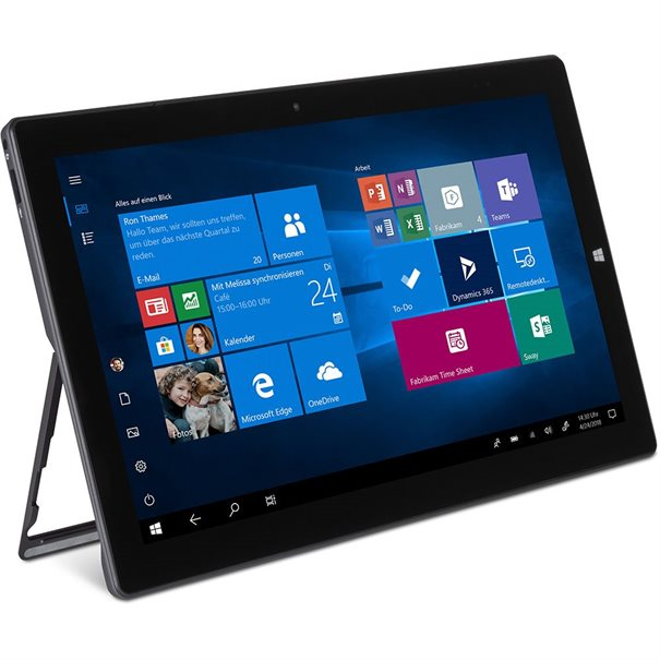 "Intel? Celeron- N4000 CPU; ;  11.6"" Touch Panel (1920x1080) Glare; ;  Intel? HD Graphics 500; ;  64 GB eMMC; 4 GB DDR3-RAM; ;  Wifi 802.11ac & Bluetooth 4.2 ;  1x USB Type C; 2 x USB 3.0; Micro-HDMI; ;  Micro-SD Cardreader; Headset ;  Frontcamera 2MP / 5MP Hauptkamera ;  Microphone; Speaker; ;  Gewicht: 800g; Abmessungen: 290 x 179 x 9 mm ;  Windows 10 Pro; Keyboard optional"