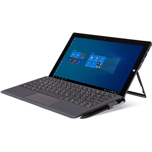 "Intel? Celeron- N4100 CPU; ;  11.6"" Touch Panel (1920x1080) Glare; ;  Intel? HD Graphics 600; ;  64 GB eMMC; 4 GB DDR3-RAM; ;  Wifi 802.11ac & Bluetooth 4.2 ;  1x USB Type C; 2 x USB 3.0; Micro-HDMI; ;  Micro-SD Cardreader; Headset ;  Frontcamera 2MP / 5MP Hauptkamera ;  Microphone; Speaker; ;  Gewicht: 800g; Abmessungen: 290 x 179 x 9 mm ;  Windows 10 Pro; Keyboard optional"