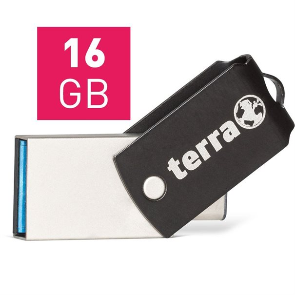 TERRA USThree A+C USB3.1  16GB 180/10 black