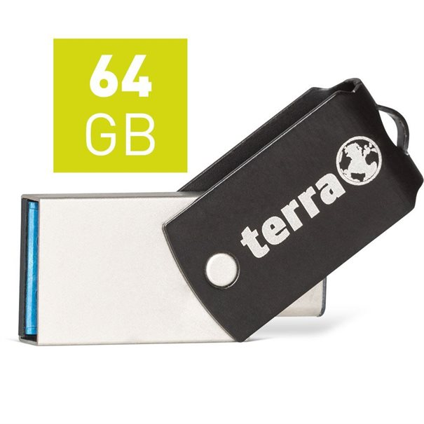 TERRA USThree A+C USB3.1  64GB 200/60 black