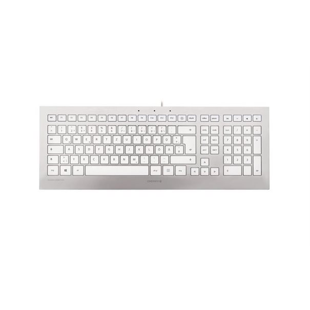 Cherry Keyboard STRAIT 3.0 [DE] silver/white
