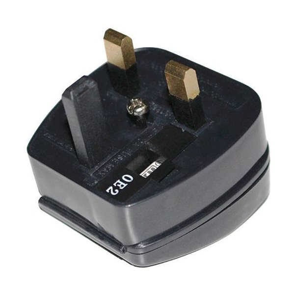 Kabel Netz Adapter EU to UK, 5A, Black
