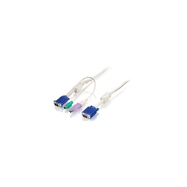 LevelOne KVM 1 to 3 Combo Kabel 5m